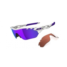 OAKLEY Women Radarlock Edge Polished White/Violet Iridium Vented