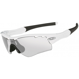 Lunettes Oakley Radarlock Path Matte White Clear Black Iriduim Photocromic