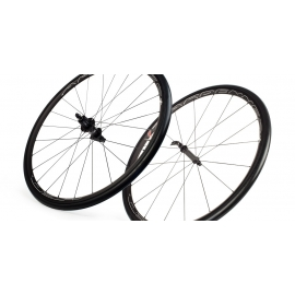Paire Roues HED ARDENNES BLACK tubeless ready pneu