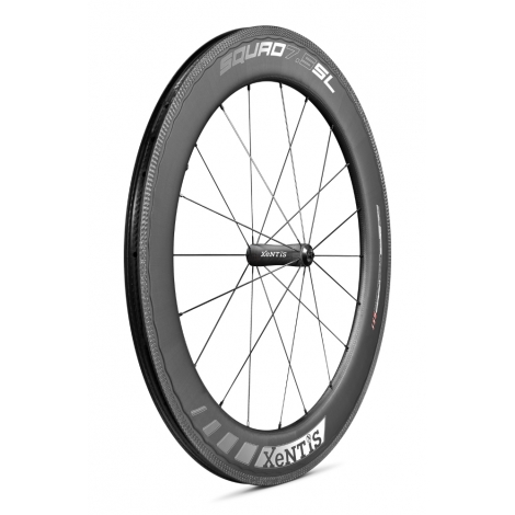Paire de roues Xentis Squad 7.5 SL Race White Matt - pneu tubeless ready
