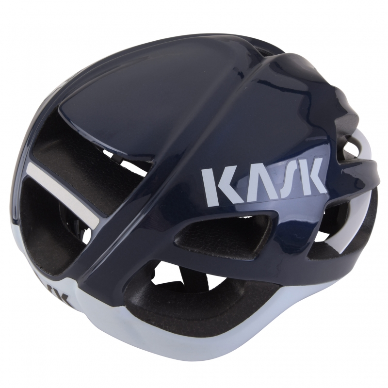 casque kask protone white blue navy planetecycle. Black Bedroom Furniture Sets. Home Design Ideas