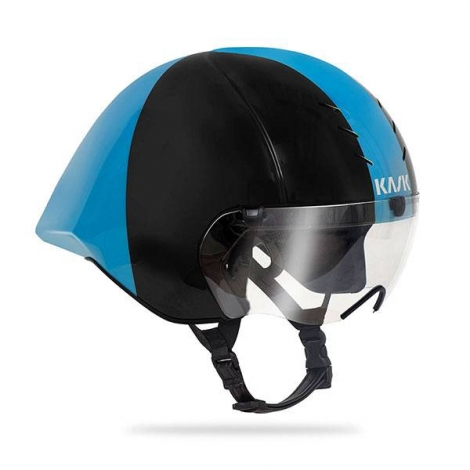 Casque KASK MISTRAL BLACK - LIGHT BLUE