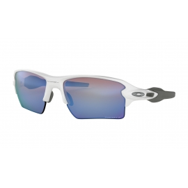 FLAK 2.0 XL - POLISHED WHITE - PRIZM DEEP WATER POLARIZED - OO9188-8259