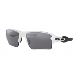 FLAK 2.0 XL - POLISHED WHITE - PRIZM BLACK POLARIZED - OO9188-8159