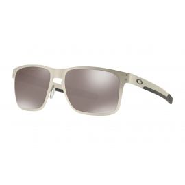 HOLBROOK METAL - SATIN CHROME - PRIZM BLACK POLARIZED - OO4123-0955