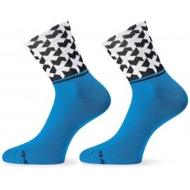 Socquettes ASSOS MONOGRAMSOCK EVO8 CALYPSO BLUE