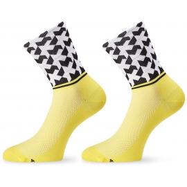 Socquettes ASSOS MONOGRAMSOCK EVO8 VOLT YELLOW
