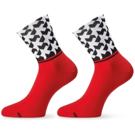 Socquettes ASSOS MONOGRAMSOCK EVO8 NATIONAL RED