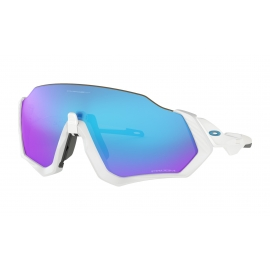 NEW OAKLEY FLIGHT JACKET -POLISHED WHITE-PRIZM SAPPHIRE-OO9401-0237