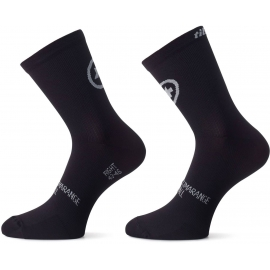 Pack de 2 paires de Socquettes ASSOS TIBURUSOCKS EVO8 blackSeries - TWIN PACK - 2 paires
