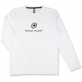 Tee shirt manches longues ASSOS LS SPONSOR YOURSELF holyWhite