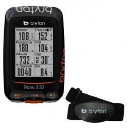 Compteur GPS BRYTON Rider 330 H - Avec Capteur Cardio