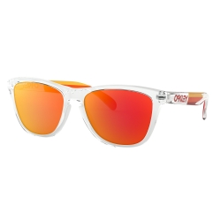 NEW OAKLEY FROGSKINS - PRIZM RUBY - POLISHED CLEAR - OO9013-E155