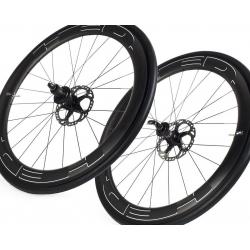 Paire roues HED JET 6 PLUS frein a disque pneu