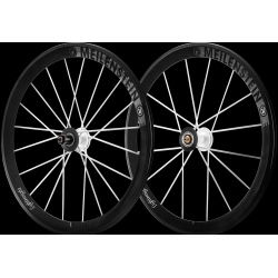Paire roues Lightweight MEILENSTEIN T 24E - WEISS EDITION