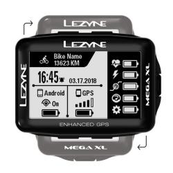 LEZYNE MEGA XLS GPS BUNDLE HSRC - Cardio + Cadence