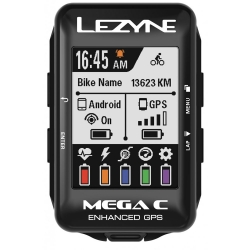 LEZYNE MEGA COLOR GPS BUNDLE HSRC - Cardio + Cadence