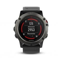 GARMIN Fénix 5X Sapphire Gray - Bracelet Noir- Montre GPS Running