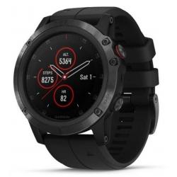 GARMIN Fénix 5 Plus Sapphire Black - Bracelet Noir - Montre GPS Running