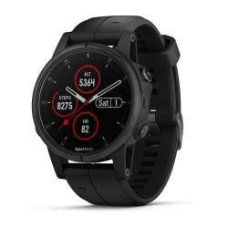 GARMIN FENIX 5S Plus, black Sapphire - bracelet noir, performer - HRM TRI - Montre GPS Running