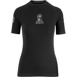 Sous vetement manches courtes ASSOS SS SKINFOIL SPRING - FALL EVO7 - blockBlack