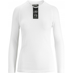 Sous vetement manches longues ASSOS Skinfoil LS Summer Base Layer Holy White - NEW 2019