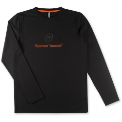 Tee shirt manches longues ASSOS LS SPONSOR YOURSELF Black / reOrange