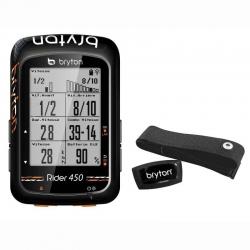 Compteur GPS BRYTON Rider 450 H - Avec Ceinture Cardio HRM