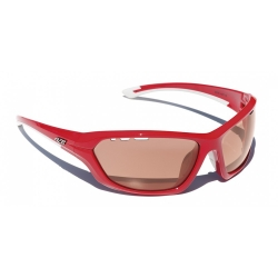 Lunettes AZR Kromic Race Photochromique - ROUGE VERNIE / ECRAN PC ORANGE PHOTOCHROMIQUE 1-3