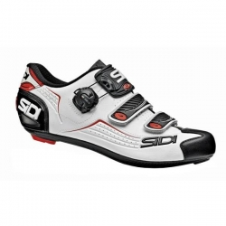 Sidi ALBA White Black Red - Paire de Chaussures velo route