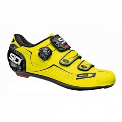 Sidi ALBA Yellow Fluo Black - Paire de Chaussures velo route