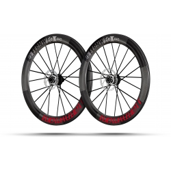 Paire roues Lightweight FERNWEG EVO 63 DISC Red label Tubeless - NEW 2020
