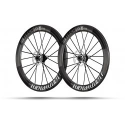 Paire roues Lightweight FERNWEG EVO 63 DISC White label Tubeless - NEW 2020
