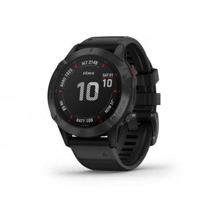 GARMIN Fénix 6 PRO Black Noire - Bracelet Noir - Montre GPS Running