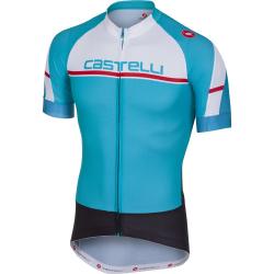 Maillot CASTELLI Distanza Jersey FZ Men's Bleu Sky