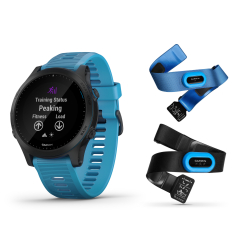GARMIN Forerunner 945 Pack Triathlon ( avec ceintures Hrm Tri et Hrm Swim) - Montre GPS Running Triathlon Performance