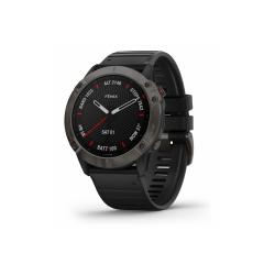 GARMIN Fénix 6X Sapphire - Carbon Gray DLC avec bracelet noir - Montre Gps Running