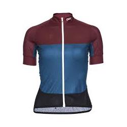 Maillot manche courte Femme POC Essential Road Women Light Jersey - Polypropylene Red - Draconis Blue