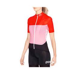 Maillot manche courte Femme POC Essential Road Women Light Jersey - Prismane Red - Altair Pink