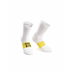 Chaussettes ASSOS Spring Fall Socks holy White