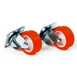 Jeu de 2 roues Giratoires SCI CON Aero Tech + Vis