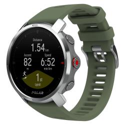 POLAR GRIT X VERT - ARGENT - Montre GPS Running