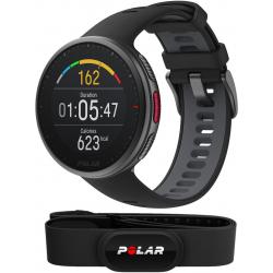 VANTAGE V2 NOIR - PACK H10+ - Montre GPS Running avec Ceinture cardiaque premium incluse