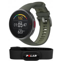 VANTAGE V2 VERT - PACK H10+ - Montre GPS Running avec Ceinture cardiaque premium incluse