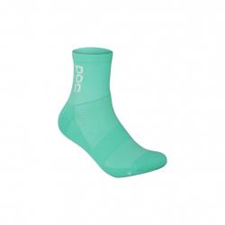 Socquettes POC Essential Road Sock - Fluorite Green - Hydrogen White
